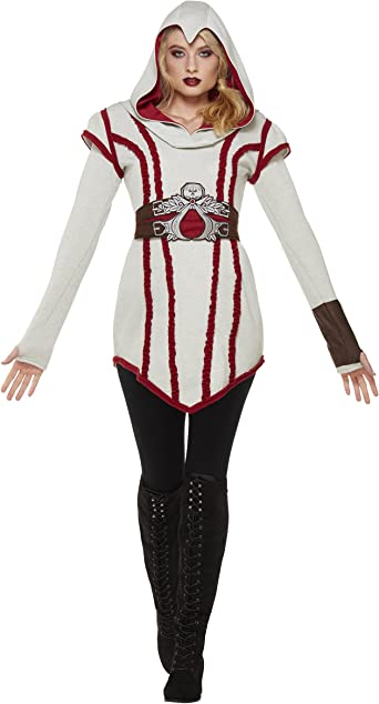 Amazon Com Spirit Halloween Adult Ezio Hooded Dress Assassin S
