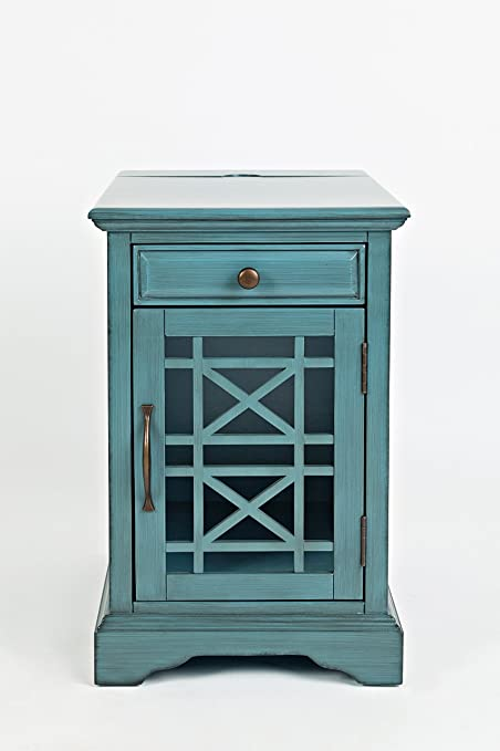 "Jofran 175-22 Craftsman Power Chairside Table Antique Blue, 16"" W X  22"" - Amazon.com: Jofran 175-22 Craftsman Power Chairside Table Antique"
