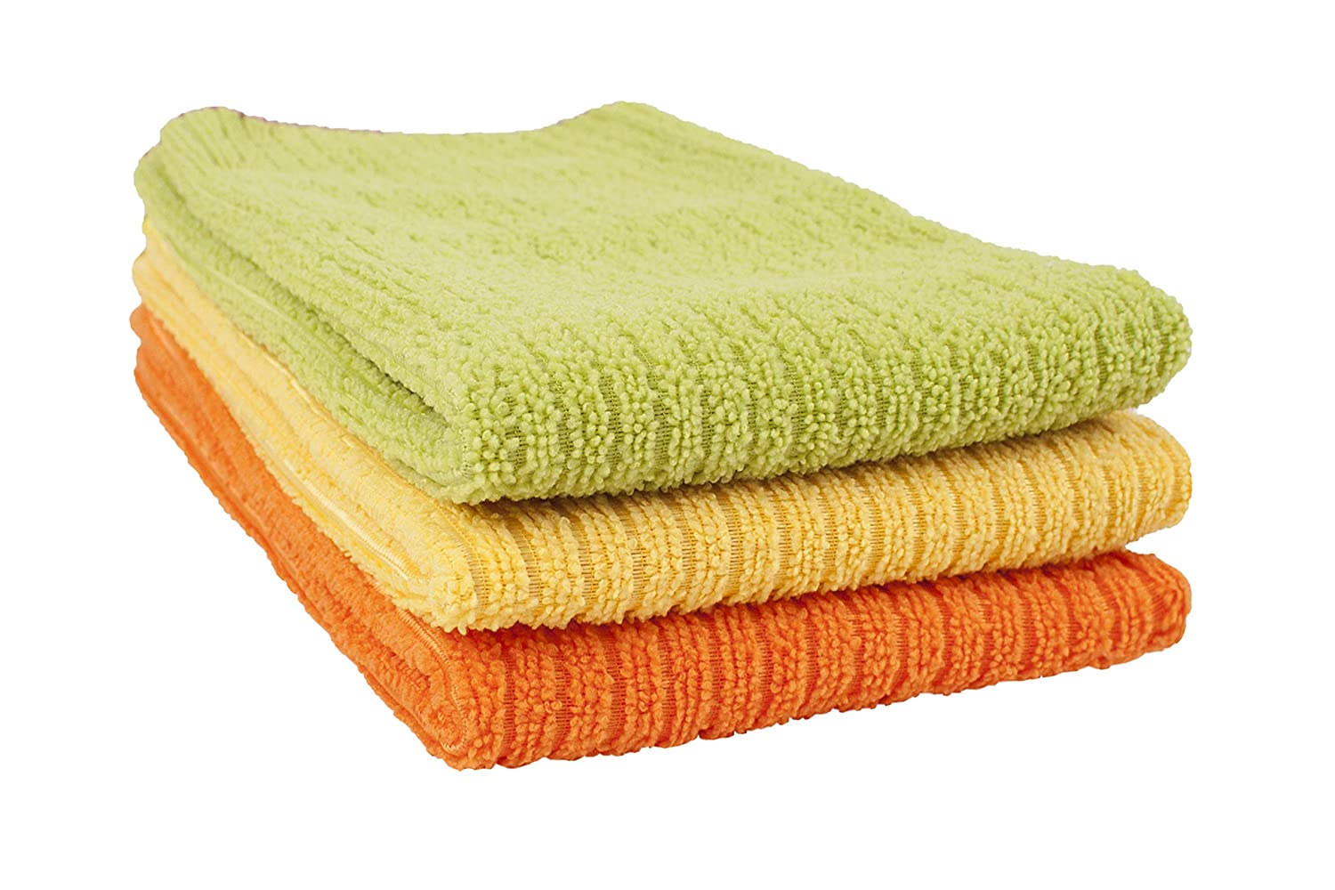 5-Pack John Ritzenthaler Co 60009 Ritz 100/% Cotton 12-inch x 12-inch Kitchen Dish Towel Gentle Cleaning Wash Cloth with Poly Scour Side Blue//Green