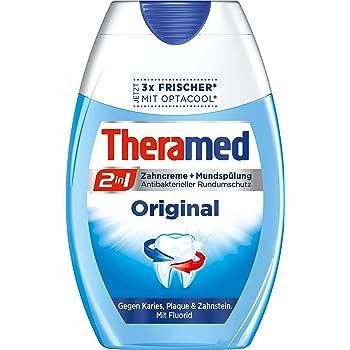 Gute Zahnpasta bekommen Sie von der Marke Theramed.