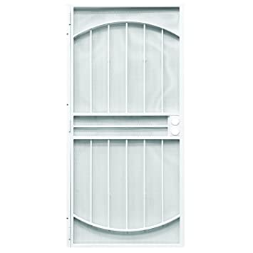 Prime Line Products 3836WH3068 WF Monterrey Steel Security Door, 36 X  80u0026quot;