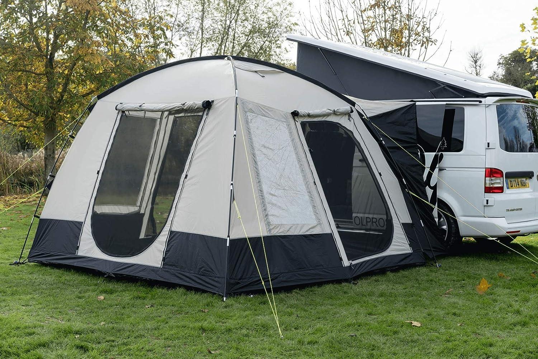 OLPro Unisexs Cubo Campervan Awning-Black//Grey 300 x 300 x 215 cm