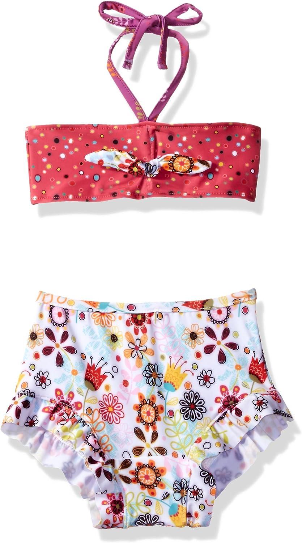 Jelly the Pug Girls Elle Ruffle Tankini Swimsuit
