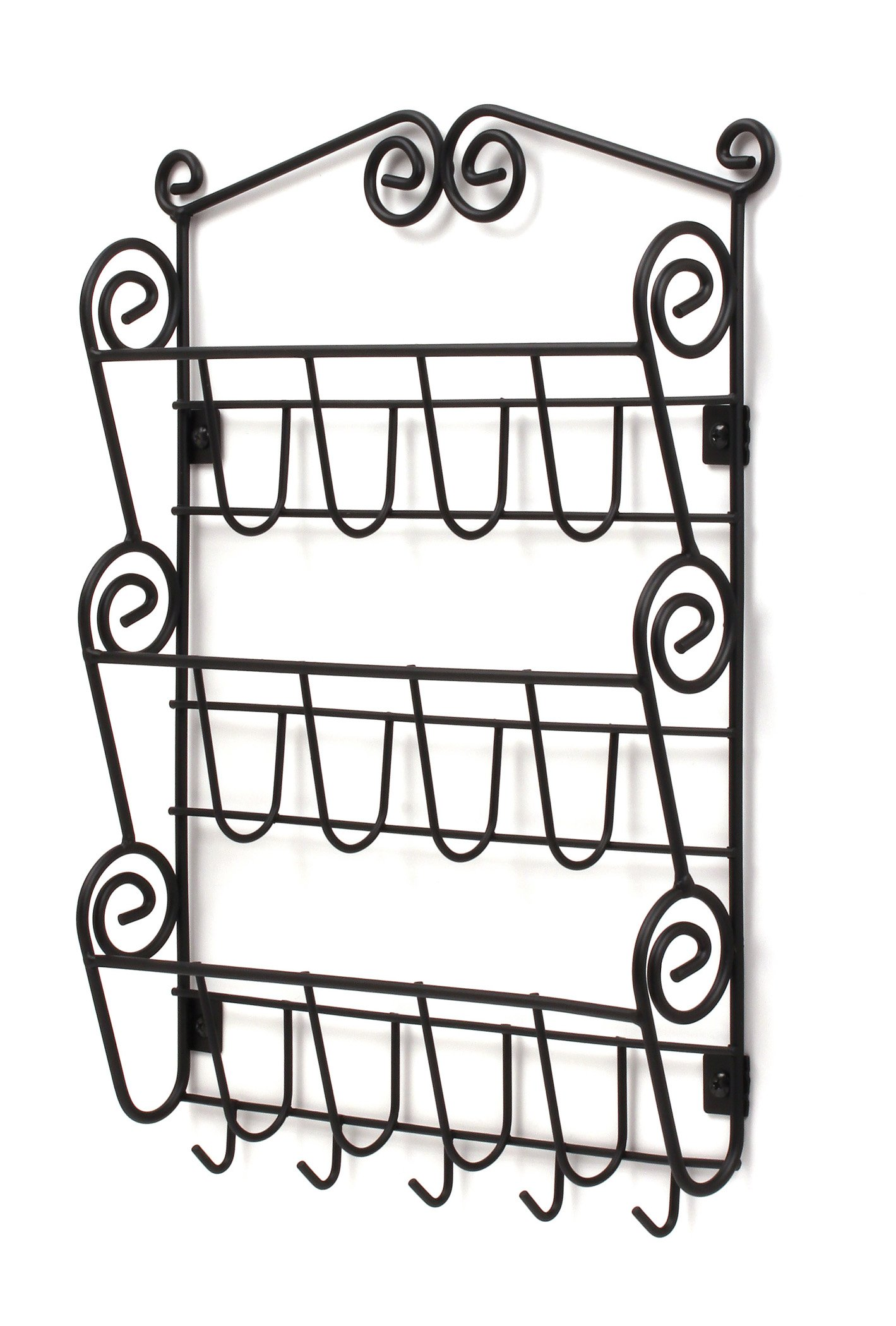 Spectrum Diversified 43310 Scroll Mail Organizer, Wall Mount, Black