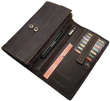 3e9baff675582 Große Voll-Rindleder Damen Geldbörse (Braun)  Amazon.de  Koffer ...