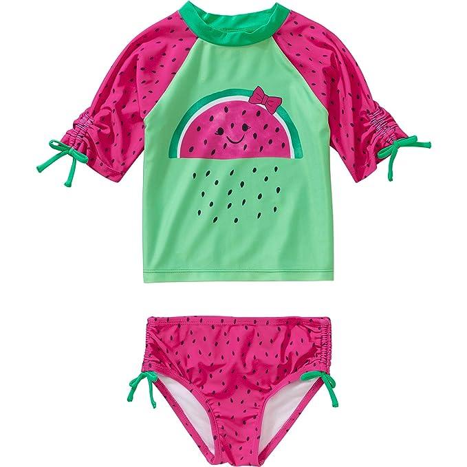 Amazon.com: Op Niñas Rashguard Bañador para bebé, niño o ...