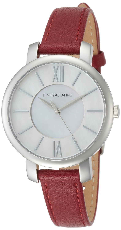 [ピンキー&ダイアン]PINKY&DIANNE 腕時計 PD103 ステンレススチール シルバー文字盤 レッド革 クォーツ PD103SWHRD レディース B072FHQWF6