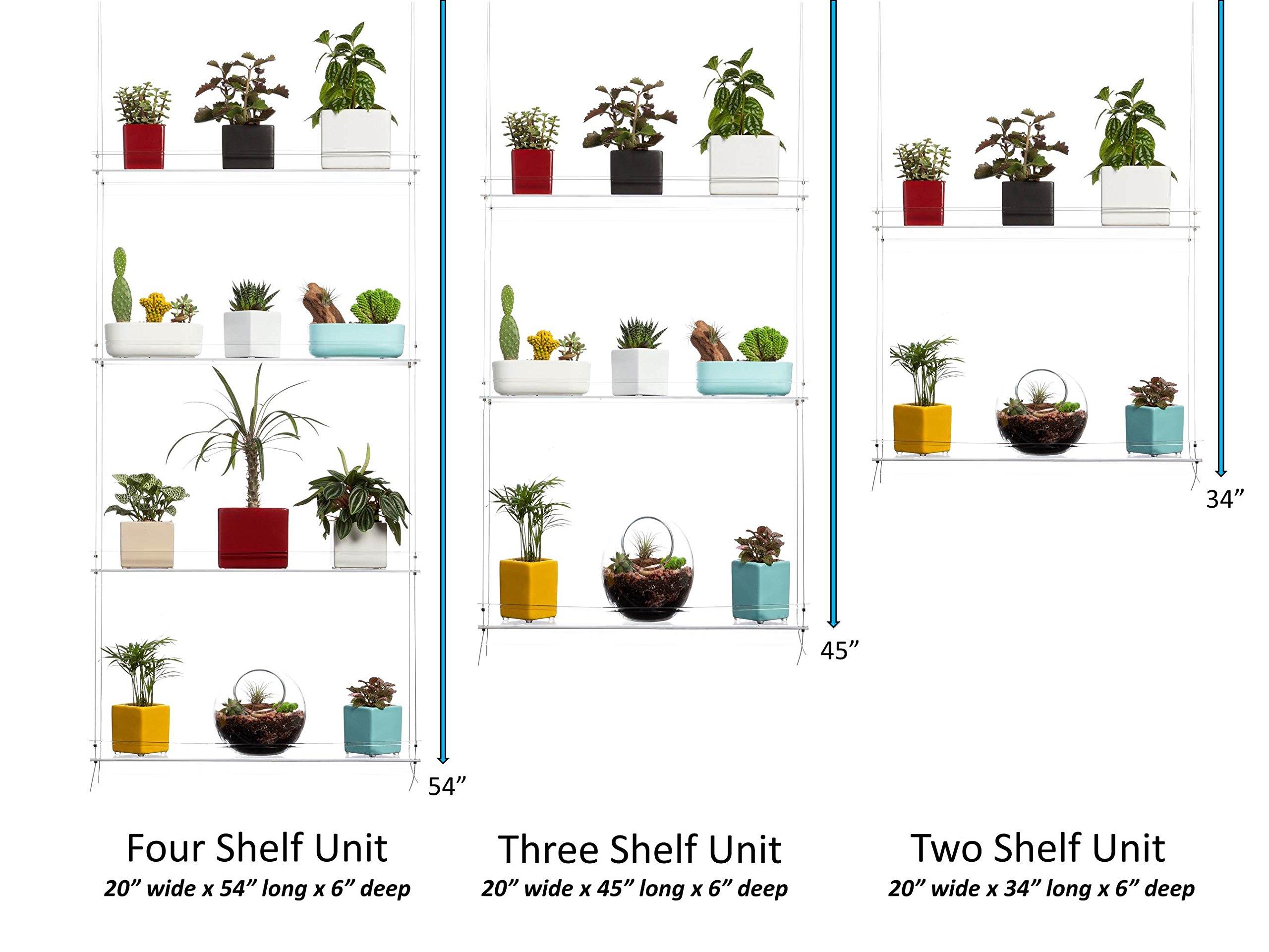 Hanging Window Plant Shelves 4 Shelves 689466491289 Ebay
