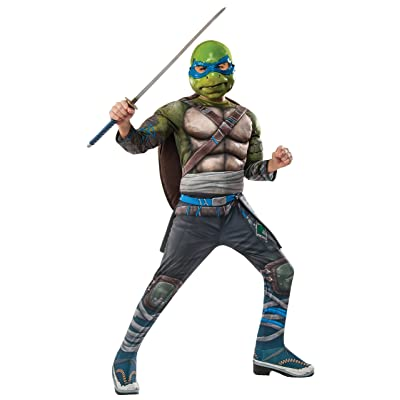 Rubie's Costume Kids Teenage Mutant Ninja Turtles 2 Deluxe Leonardo Costume, Small: Clothing