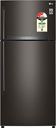 LG 603 L 3 Star ( 2019 ) Frost Free Double Door Refrigerator(GR-H772HXHU, Black Steel, Inverter Compressor)