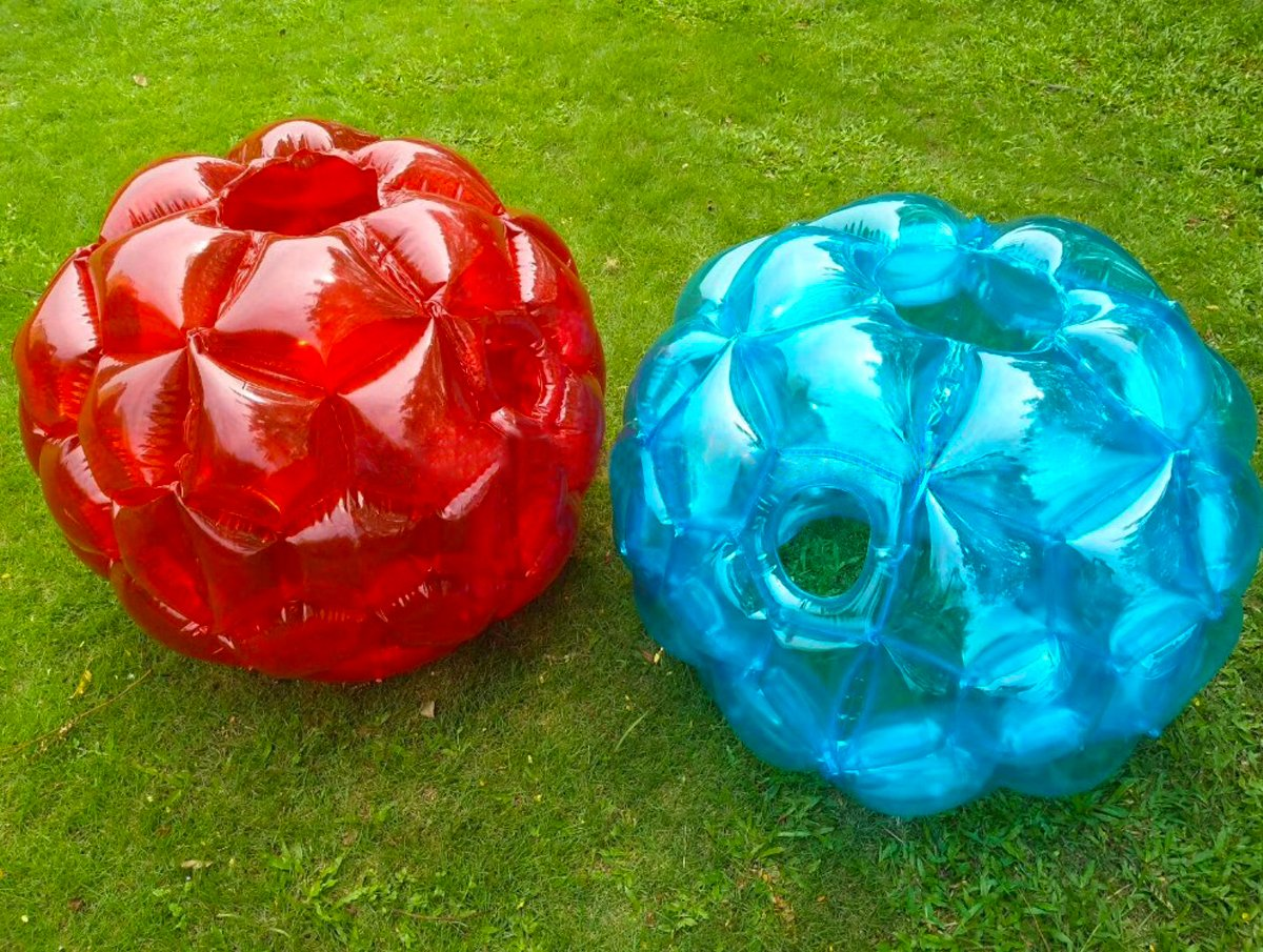 Inflatable 36'' Wearable Buddy Bumper Zorb Balls Heavy Duty Durable PVC Viny Bubble Soccer Outdoor Game (2-Pack,Blue&Red)) ... by Holleyweb (Image #2)