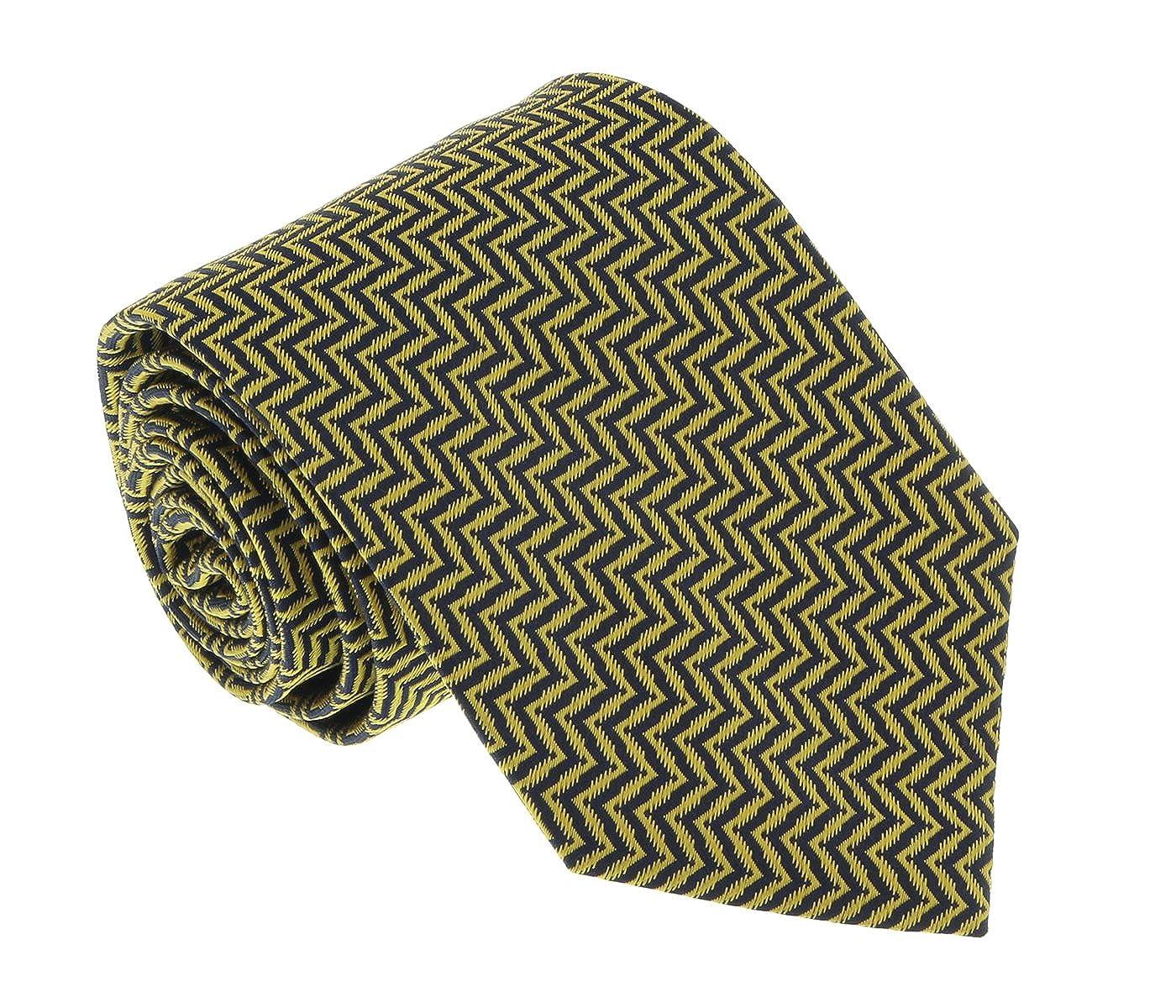 Missoni U4519 Gold Herringbone 100/% Silk Tie for mens