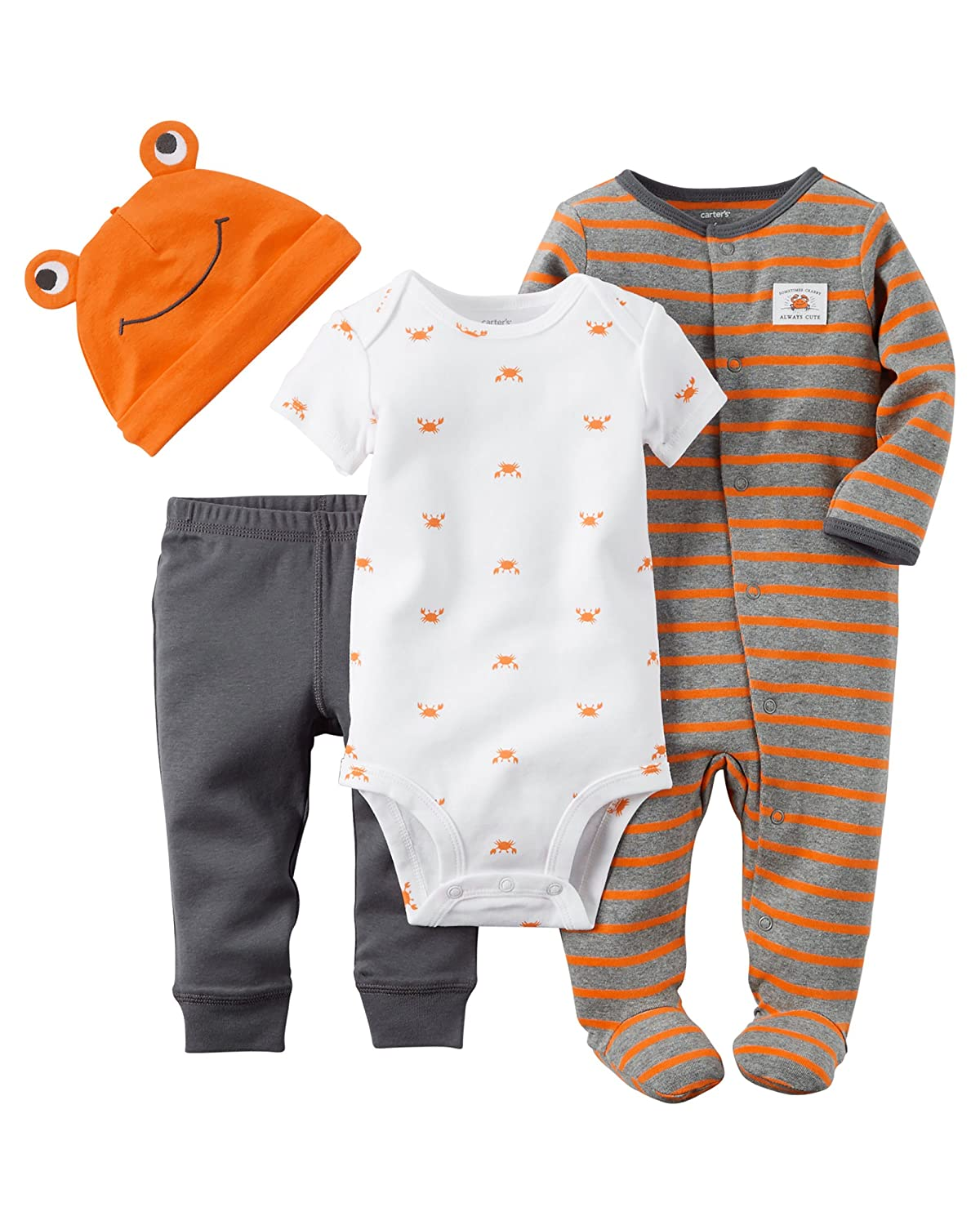 Carters Baby Boys Layette Set (Baby) Orange Crab)