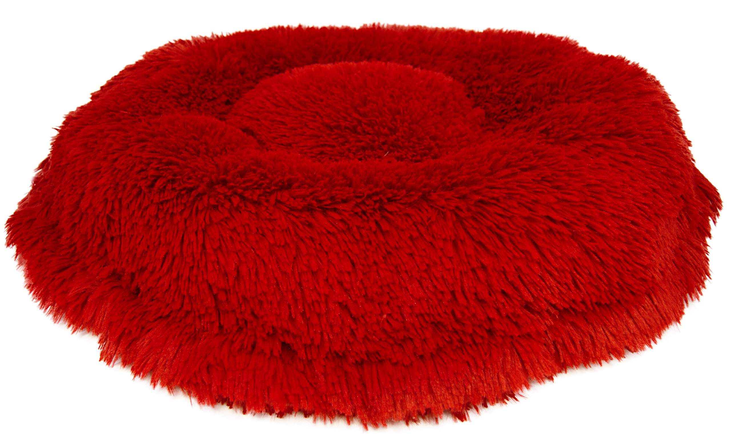 BESSIE AND BARNIE Ultra Plush Lipstick Luxury Shag Deluxe Dog/Pet Lily Pod Bed by BESSIE AND BARNIE (Image #2)