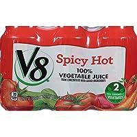 24-Pack V8 11.5 oz. Original Spicy Hot 100% Vegetable Juice Can