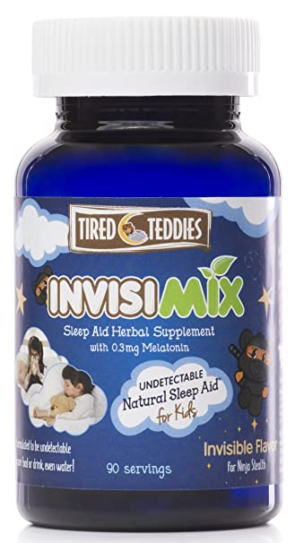 Tired Teddies InvisiMix - Melatonin for Kids; Undetectable Natural Sleep Aid for Kids, with