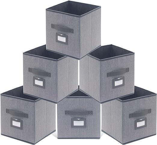 homyfort Juego de 6 Caja de Almacenaje, Cajas de Juguetes, Caja de ...