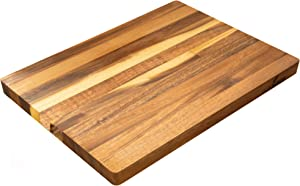 Villa Acacia Large Wood Cutting Board, 17x12 Inch Premium Grade Reversible Hardwood for Kitchens