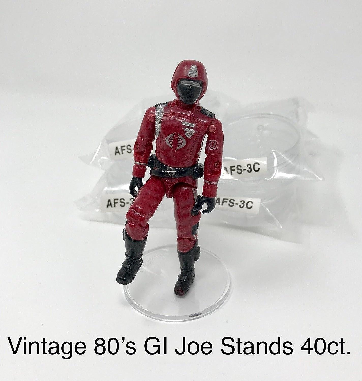 Amazon.com: GI Joe Clear Action Figure Stands Vintage Joes Quantity 40: Toys  & Games
