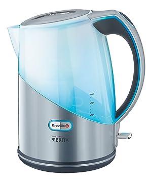 Breville VKJ789X - Hervidor, jarra con filtro BRITA semi-transparente, 2200 W