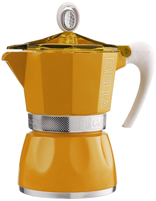 G.A.T. 2790000081 Espressokocher bereitet bis zu 3 Tassen, gelb