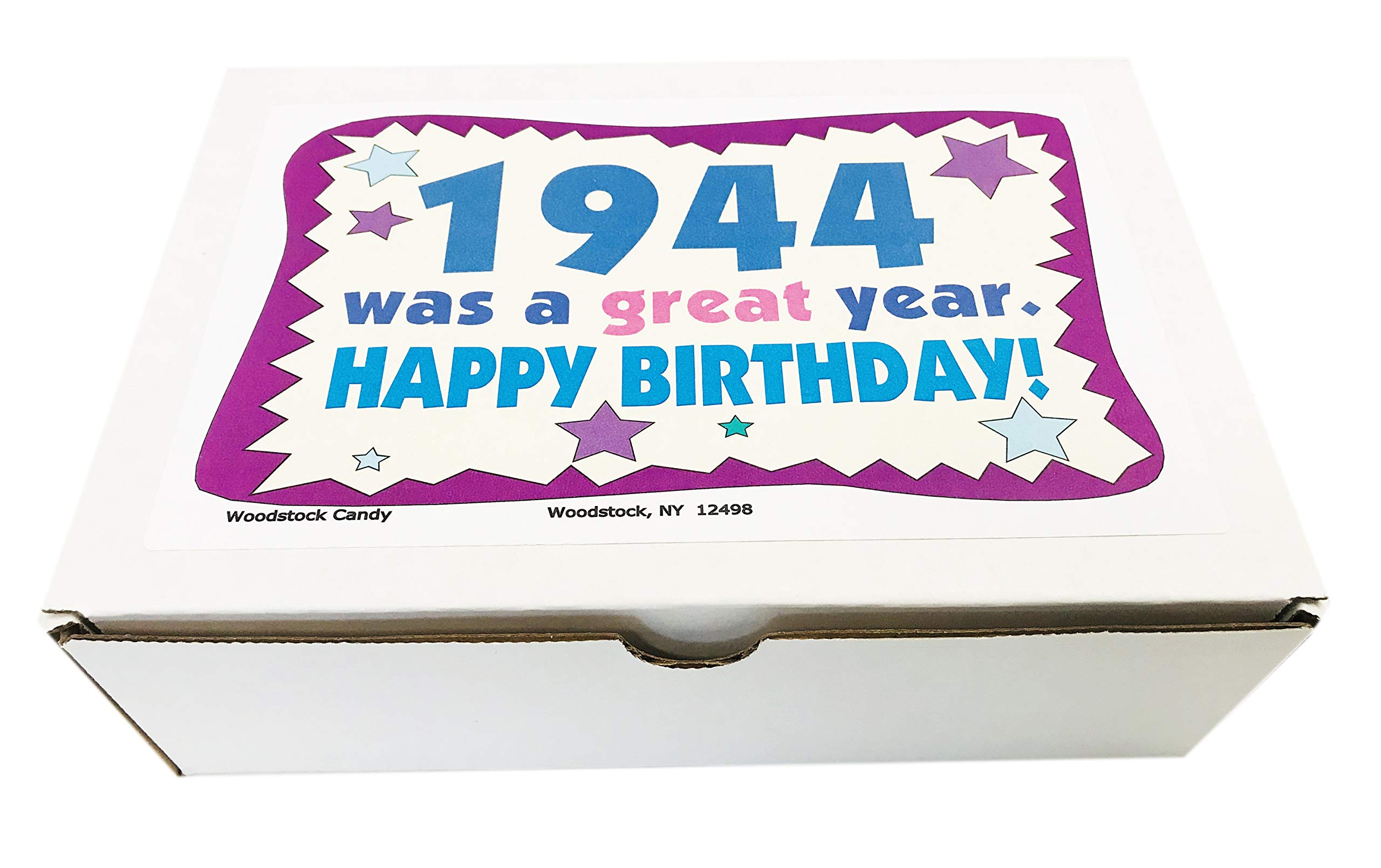 Woodstock Candy ~ 75th Birthday Gift Box of Nostalgic Retro Candy from Childhood for 75 Year Old Man or Woman Born 1944 Jr by Woodstock Candy (Image #2)