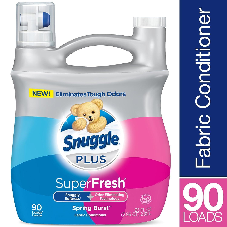 Amazon.com: Snuggle Plus Super Fresh Liquid Spring Burst Fabric Softener, 95 Fluid Ounce: Health & Personal Care