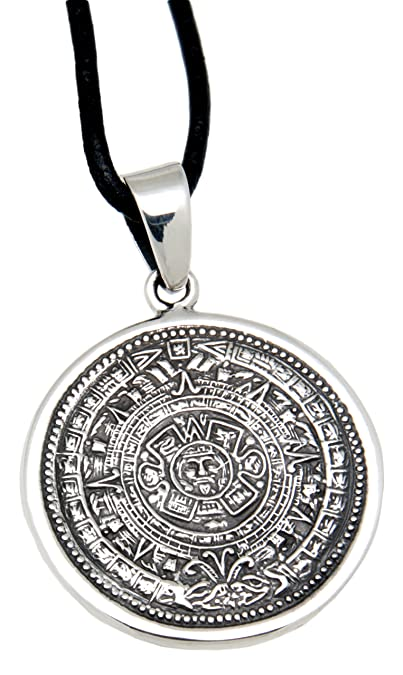Your aztec calendar pendant in 925 sterling silver amazon your aztec calendar pendant in 925 sterling silver aloadofball Images