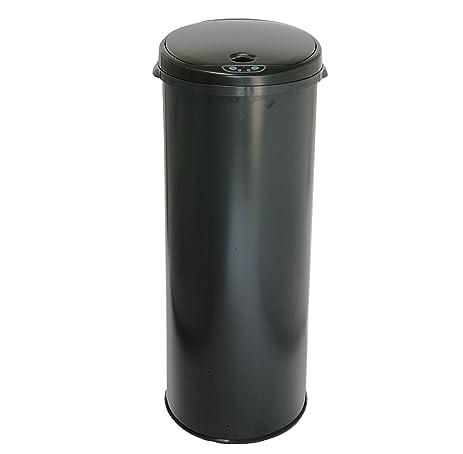 itouchless 13 gallon automatic sensor kitchen trash can with odor filter u2013 black u2013 round u2013