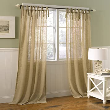 Curtains Ideas curtain poles laura ashley : Amazon.com: Laura Ashley Danbury Panel Pr. Or Tie Top Panels, 40 ...