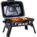 Pinty Portable Folding Charcoal Grill Carbon Steel Tabletop BBQ Grill for Outdoor Use, 250 Square Inch