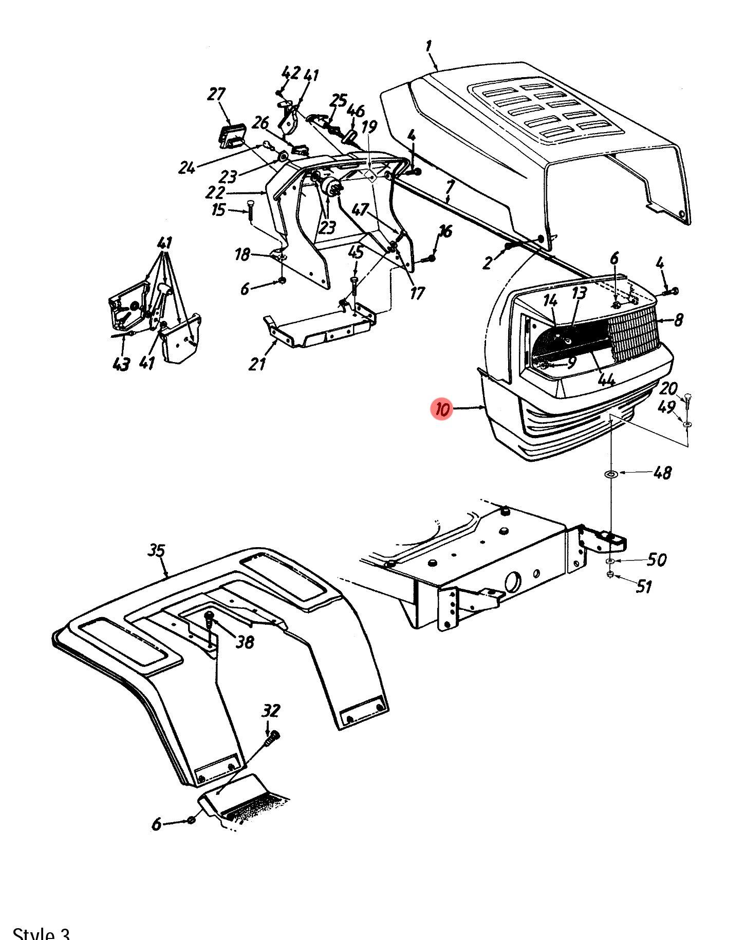 MTD 911-1107 Link-Drag Steering
