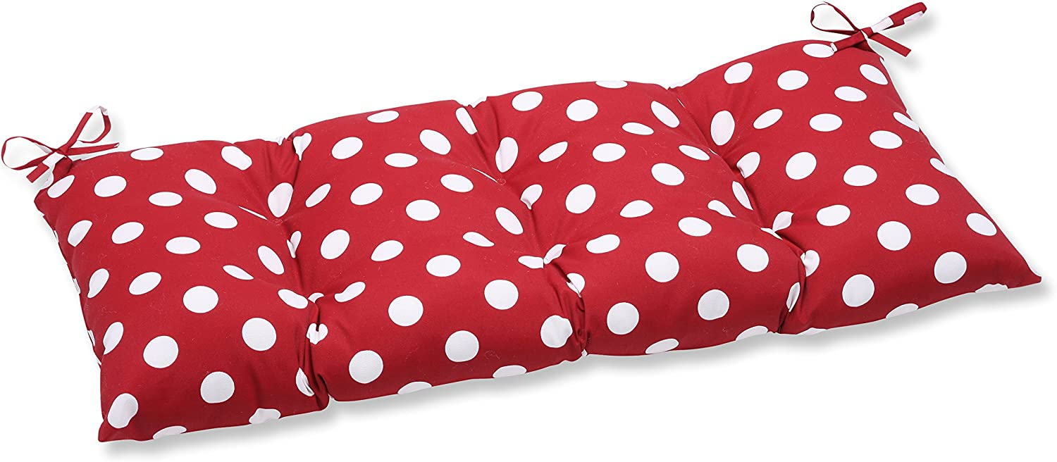 Pillow Perfect Indoor/Outdoor Polka Dot Red Swing/Bench Cushion