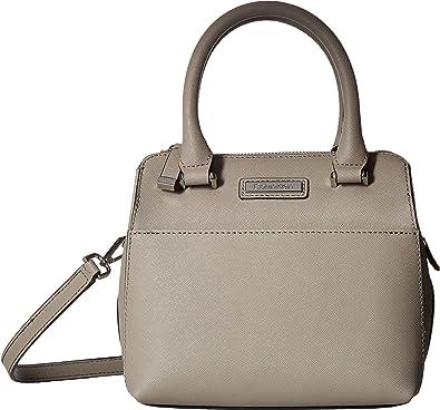 af812afec7d3 Calvin Klein Women's Saffiano Leather Mini Top Zip Crossbody Smoke One  Size: Handbags: Amazon.com
