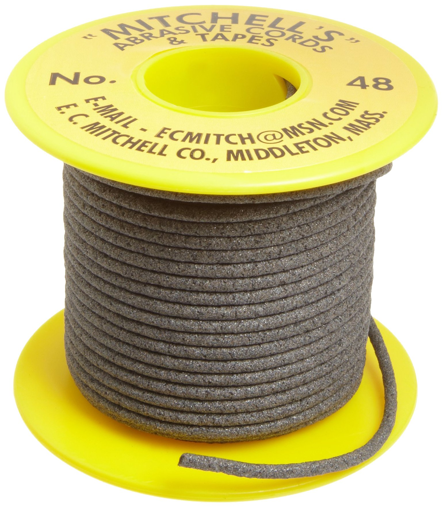 Mitchell Abrasives 48 Round Abrasive Cord, Aluminum Oxide 150 Grit .093'' Diameter x 25 Feet by Mitchell Abrasives