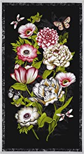 Wilmington Prints Tivoli Garden 23in Panel Multi Quilt Fabric, Spearmint