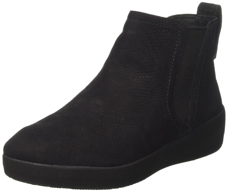 Fitflop Superchelsea Boot, Botas Chelsea Para Mujer37.5 EU|Negro (Black Snake-embossed)
