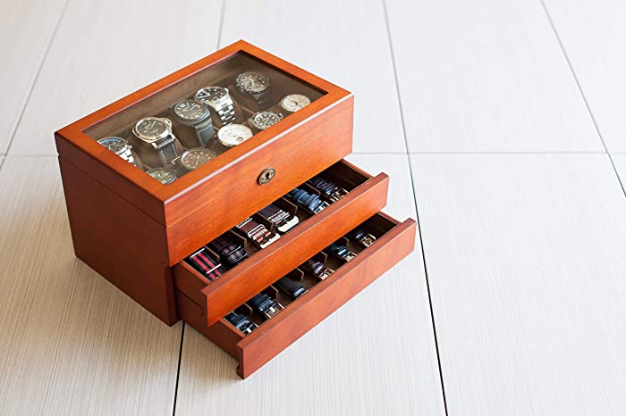 Amazon Com Personalized Solid Wood Watch Box Holds 10 Watches