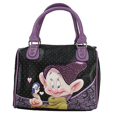 disney dopey seven dwarfs woman kid girl bowling bag mini barrel handbag shoulderbag crossover cross body