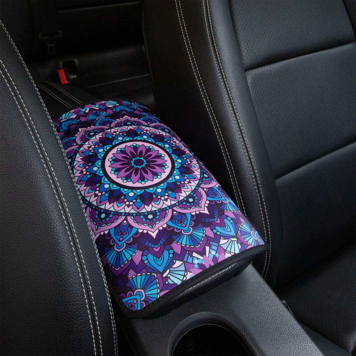 Horeset Beautiful Aqua Flower Car Seat Cover Blue Car Seat Covers Universal fit Women Vehicle Seat Covers for Most of Cars