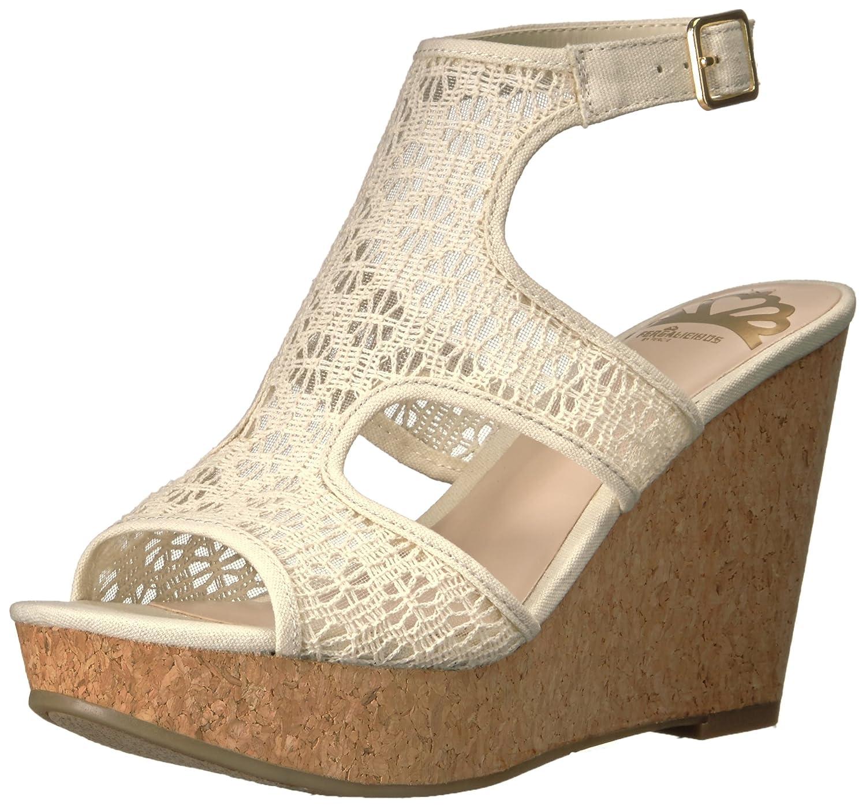 Fergalicious Women's Kendra Wedge Sandal B01MF5QL49 8 B(M) US|Cream
