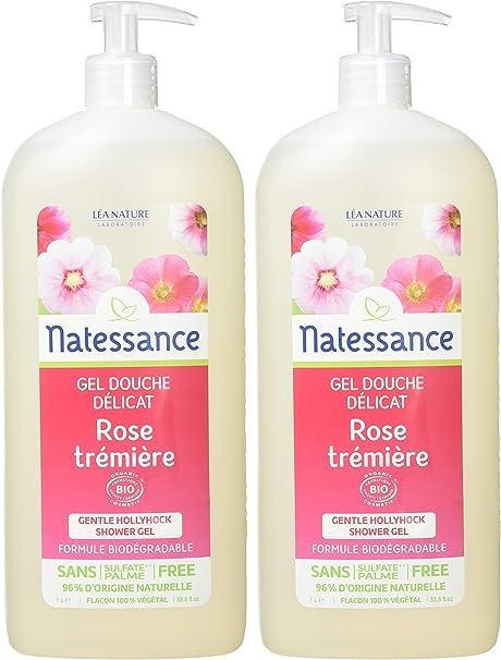 Natessance Gel Ducha Rose trémière – – Juego de 2: Amazon.es: Belleza