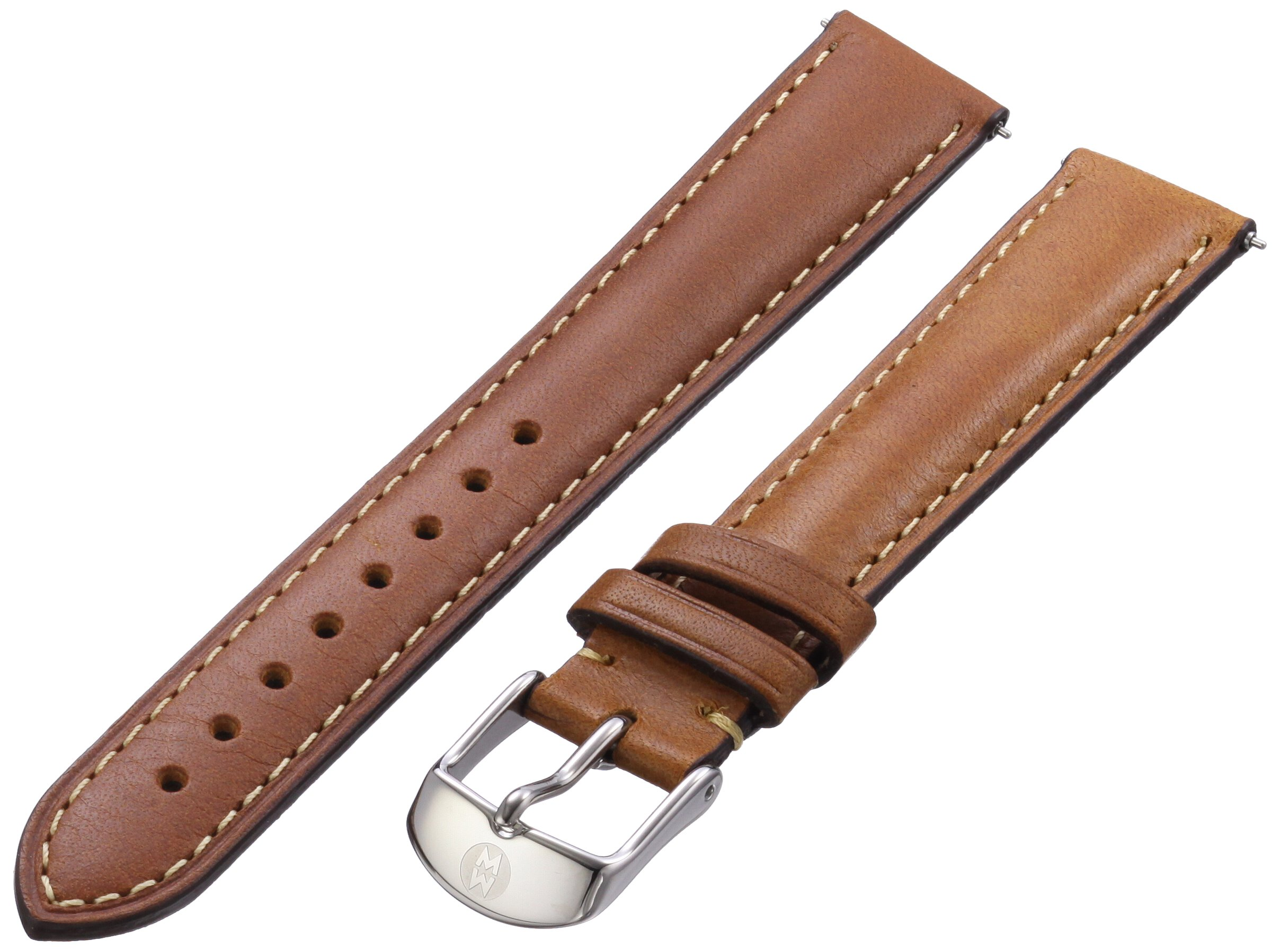 MICHELE MS16AA270216 16mm Leather Calfskin Brown Watch Strap