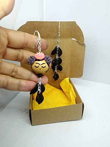 lucentezza adorabile cerca l'originale morbido e leggero orecchini Frida Kahlo: Amazon.it: Handmade