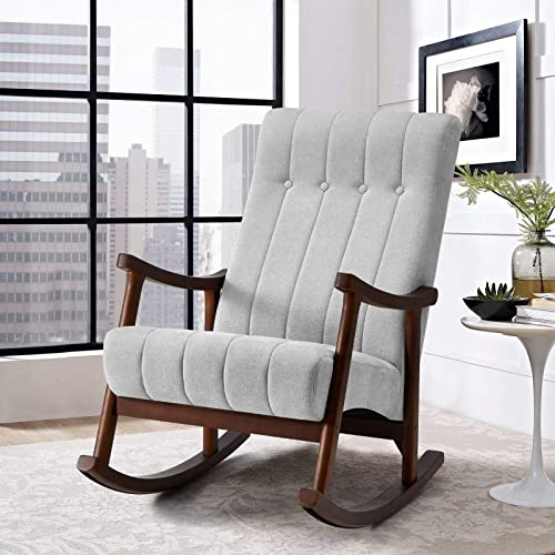 AVAWING Upholstered Rocking Chair