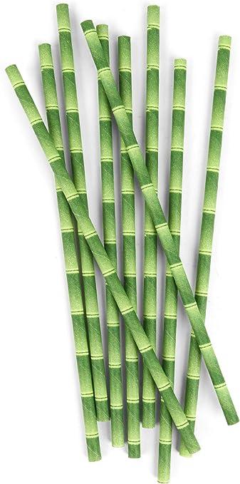 100//% organique Lot de 100/pailles en papier bambou jaune pour remplacer les pailles en plastique bambou /écologique