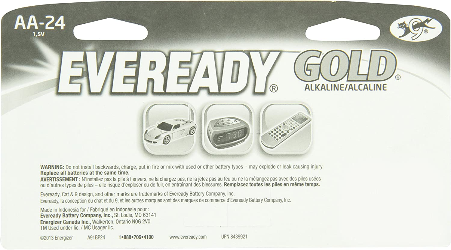 1 Pack of 24 Eveready A91BP24HT Alkaline