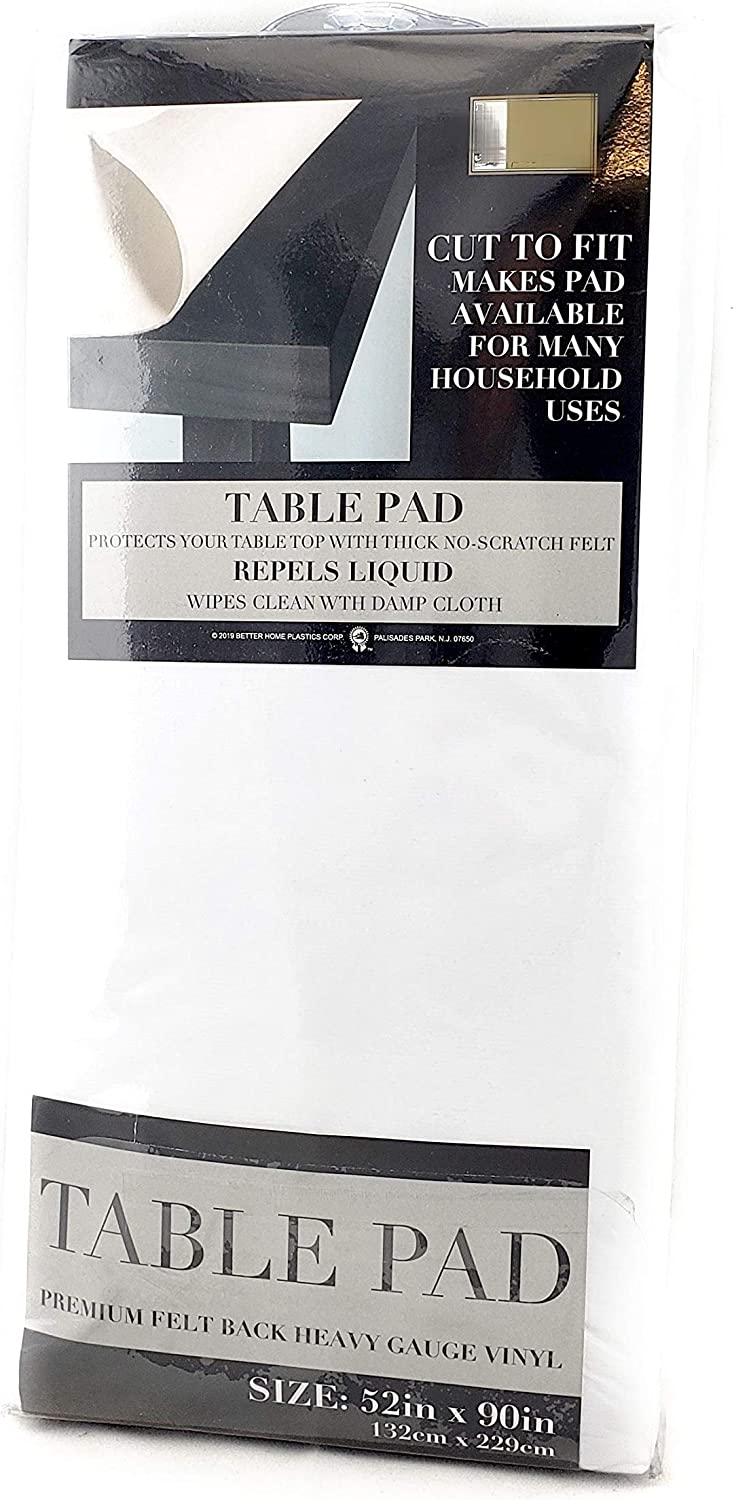 "Felt Back Vinyl Table Pad Size 52"" x 90"" Cut to Fit: Kitchen & Dining"