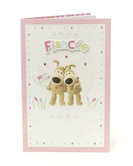 Amazon Boofle Fiance Birthday Card With Love Office Products