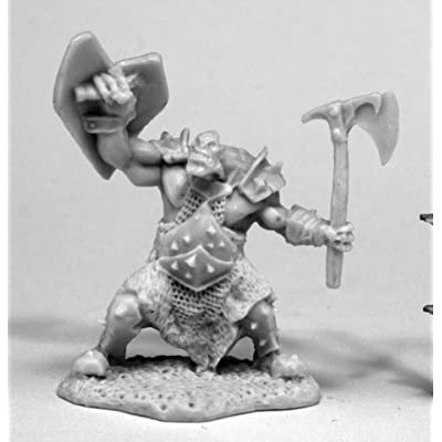 Reaper Miniatures 77430 Orc Slayer (Axe and Shield), Bones Miniature: Toys & Games